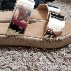 Aldo gold wedge sandal